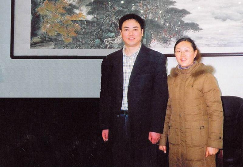 足春堂技术总监顾芹女士与中国足健会理事长廖海涛先生合影